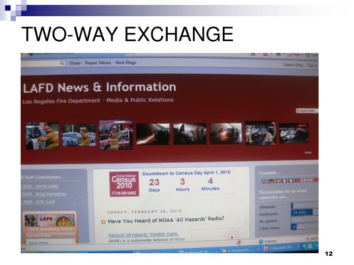 TWO-WAY EXCHANGE