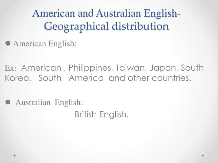 American and Australian English-