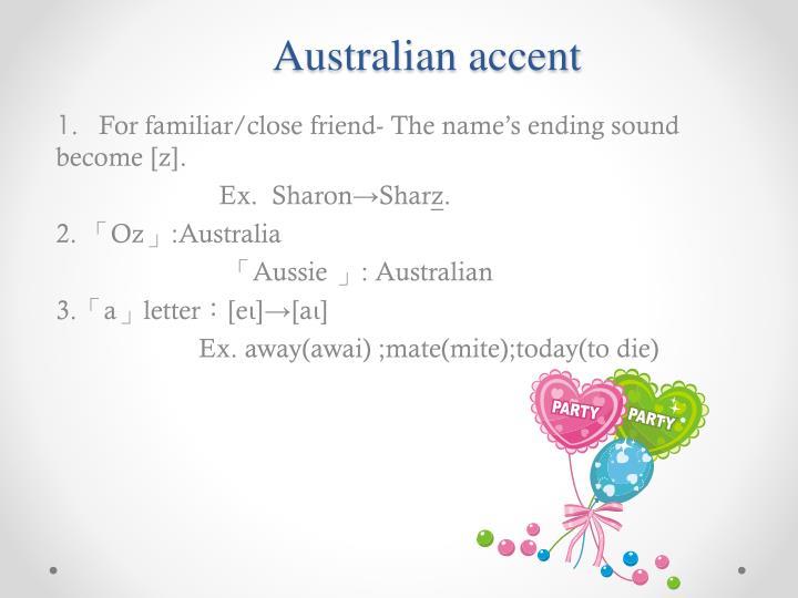 Australian accent