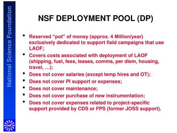 NSF DEPLOYMENT POOL (DP)