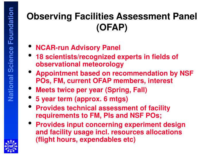 Observing Facilities Assessment Panel (OFAP)