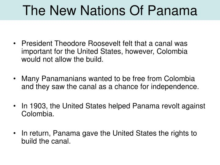 The New Nations Of Panama