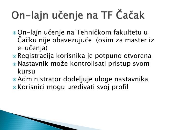 On-lajn učenje na TF Čačak