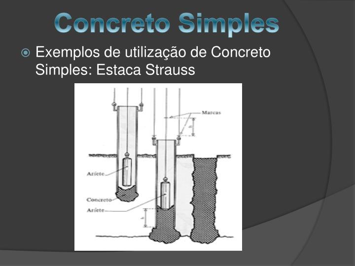Concreto Simples