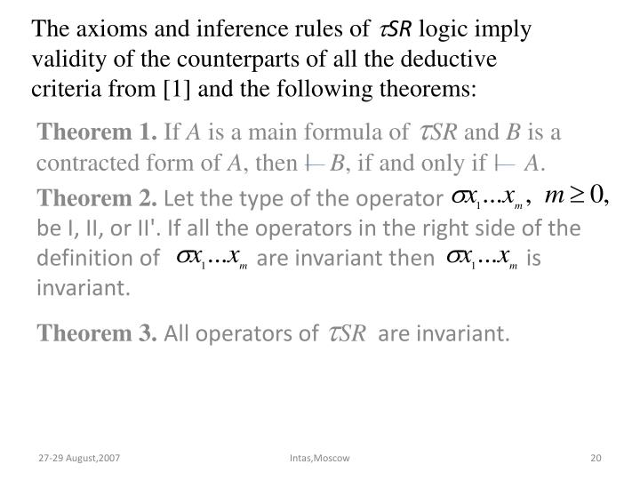 The axioms and inference rules of