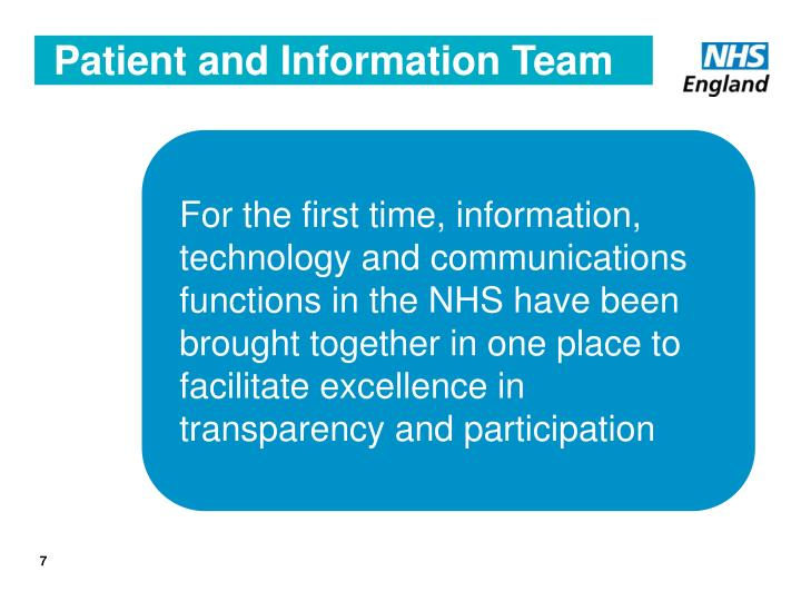 Patient and Information Team