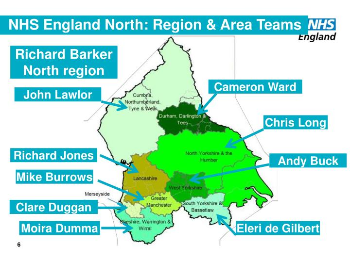 NHS England North: Region & Area Teams