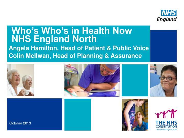 Who s who s in health now nhs england north