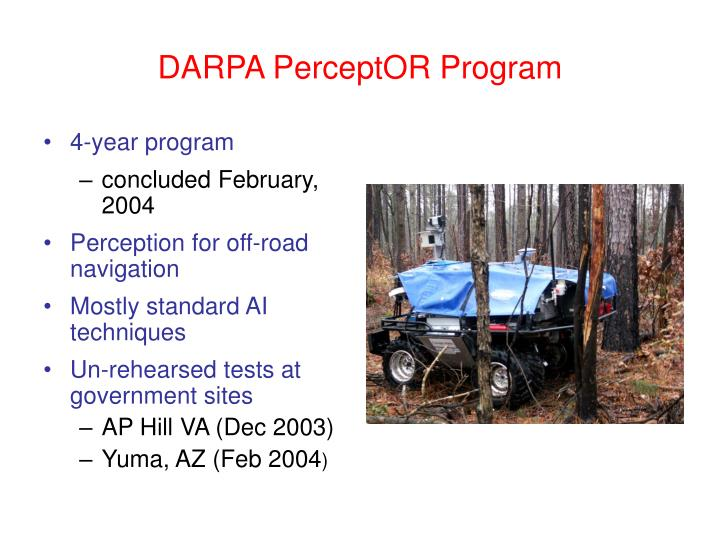 DARPA PerceptOR Program
