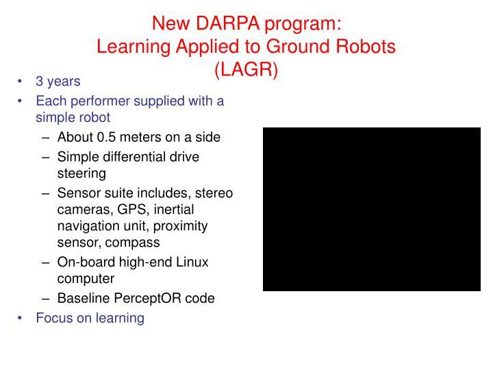 New DARPA program: