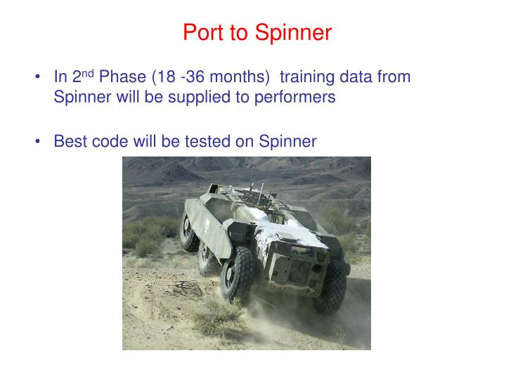 Port to Spinner