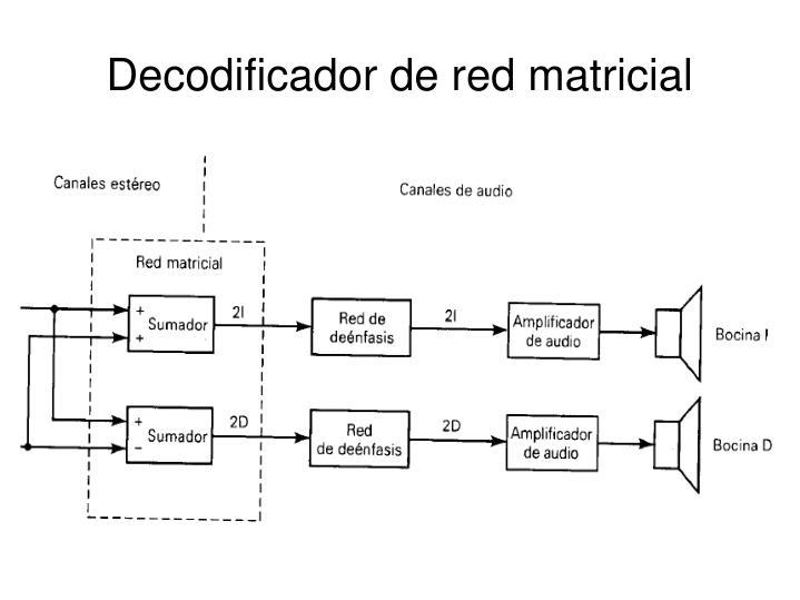 Decodificador de red matricial