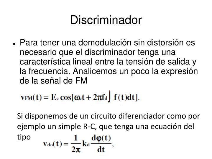 Discriminador