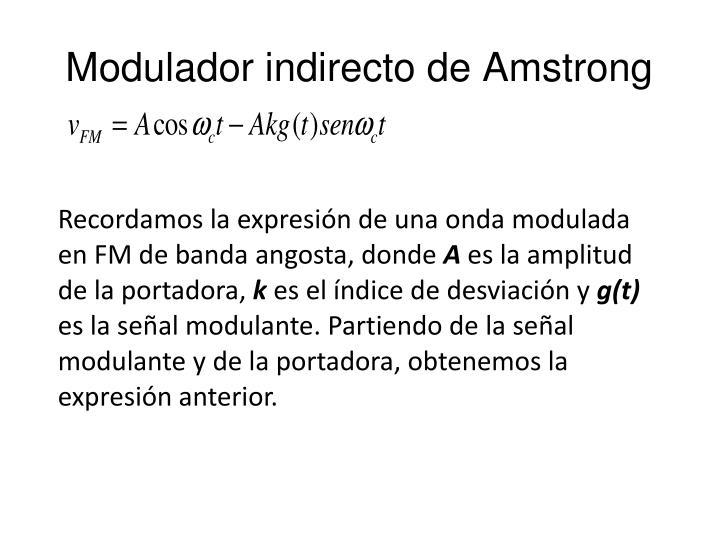 Modulador indirecto de Amstrong