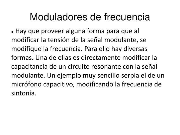 Moduladores de frecuencia