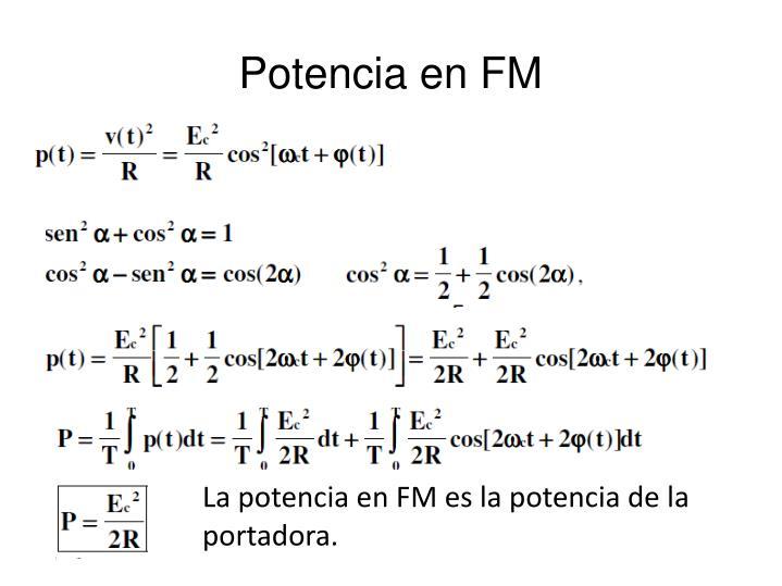 Potencia en FM