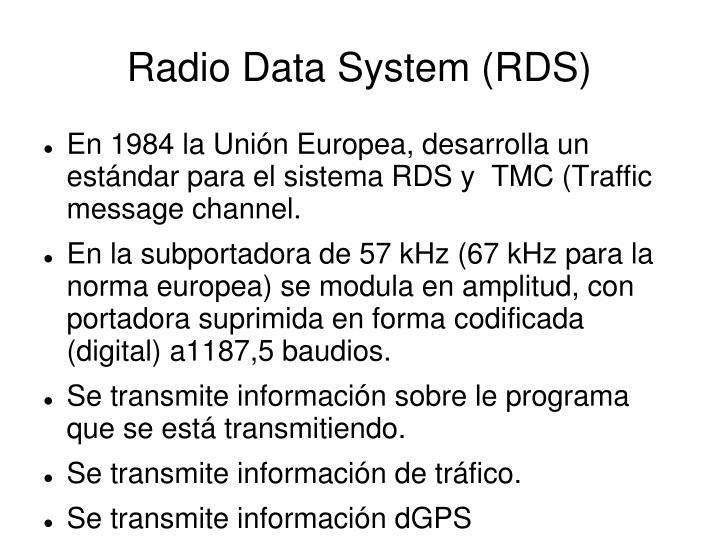 Radio Data System (RDS)