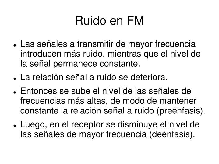 Ruido en FM