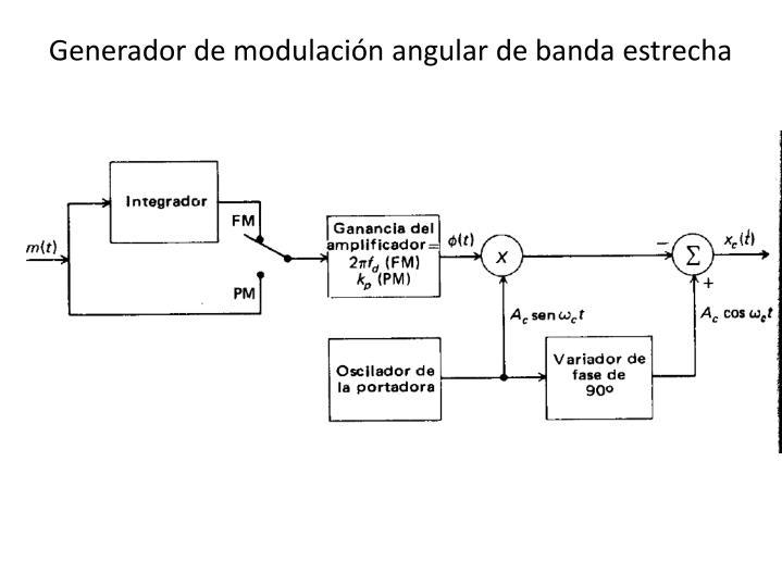 Generador de modulación angular de banda estrecha