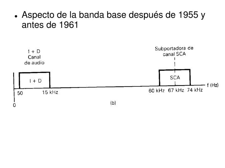 Aspecto de la banda base después de 1955 y antes de 1961
