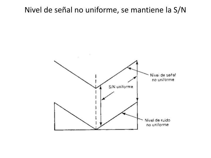 Nivel de señal no uniforme, se mantiene la S/N