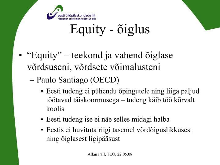 Equity - õiglus