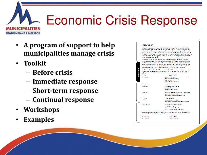 Economic Crisis Response
