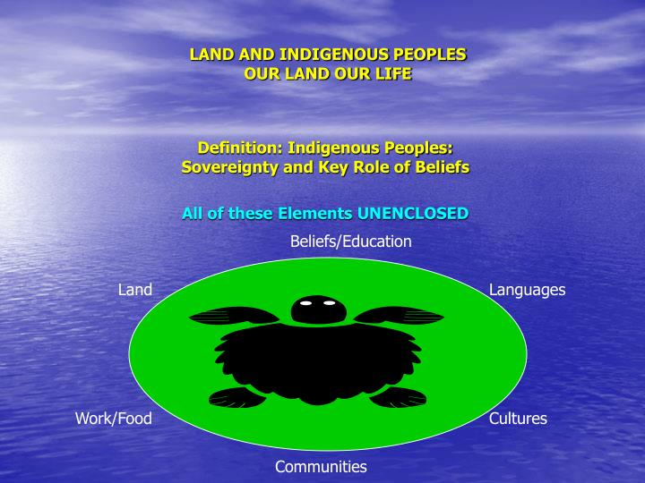 Land and indigenous peoples our land our life