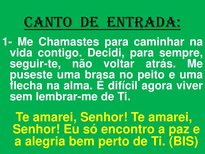 CANTO  DE  ENTRADA: