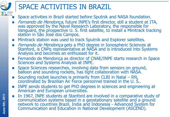 SPACE ACTIVITIES IN BRAZIL