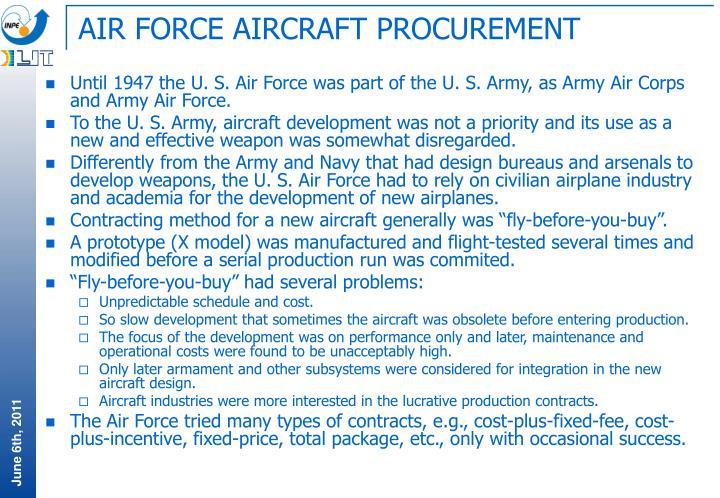 AIR FORCE AIRCRAFT PROCUREMENT