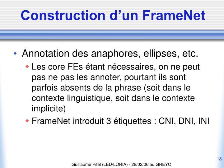 Construction d'un FrameNet