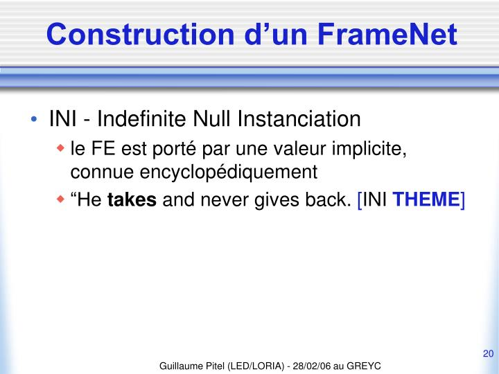 Construction d'un FrameNet