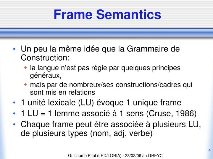 Frame Semantics