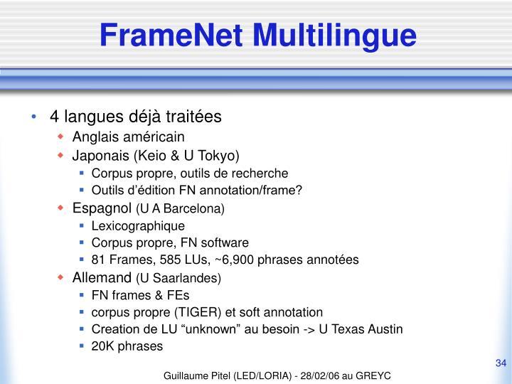 FrameNet Multilingue