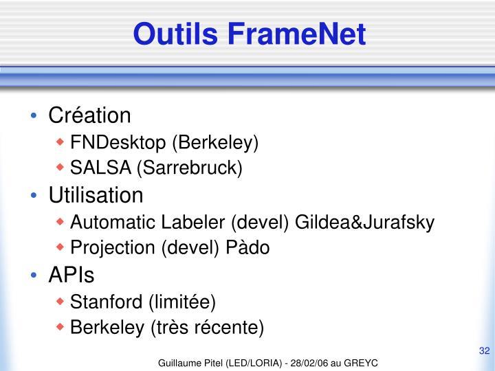 Outils FrameNet