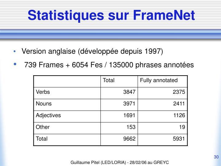 Statistiques sur FrameNet