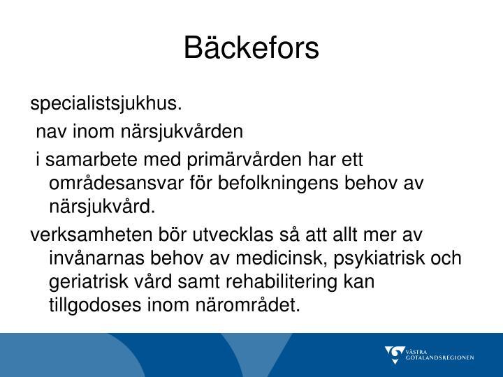 Bäckefors