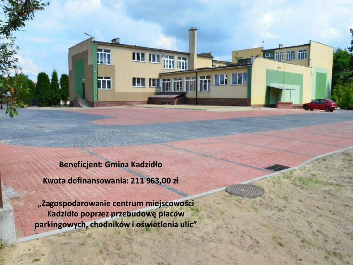 Beneficjent: Gmina Kadzidło