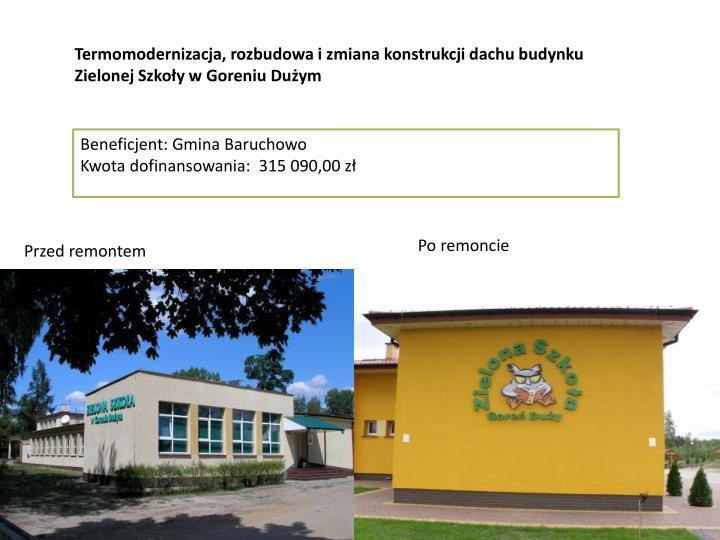 """""""Utworzenie Gminnego Centrum Animacji Kultury i Sportu w Sulbinach"""""""