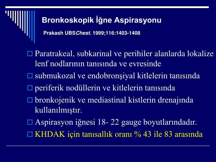 Bronkoskopik İğne Aspirasyonu