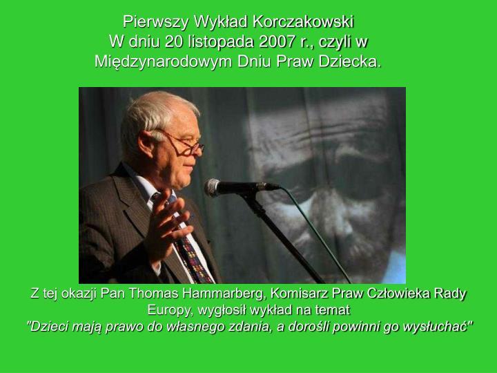 Pierwszy Wykład Korczakowski