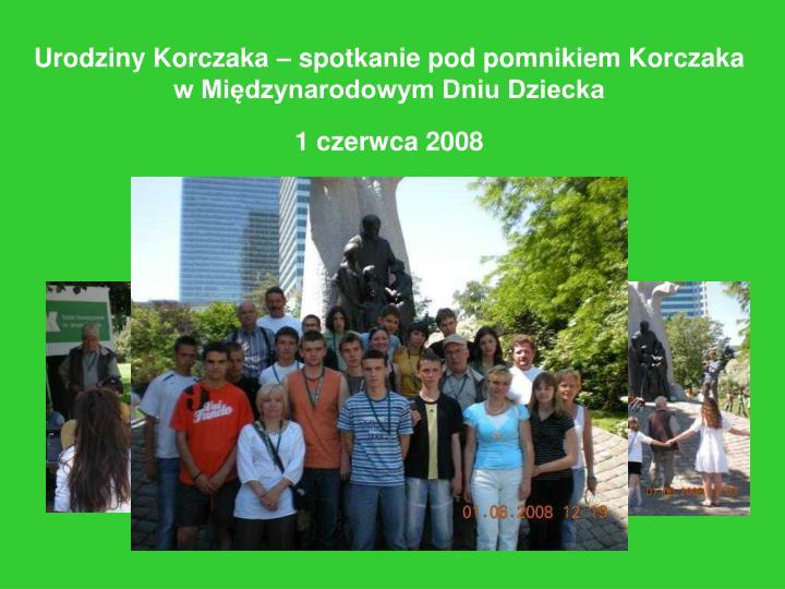 Urodziny Korczaka – spotkanie pod pomnikiem Korczaka