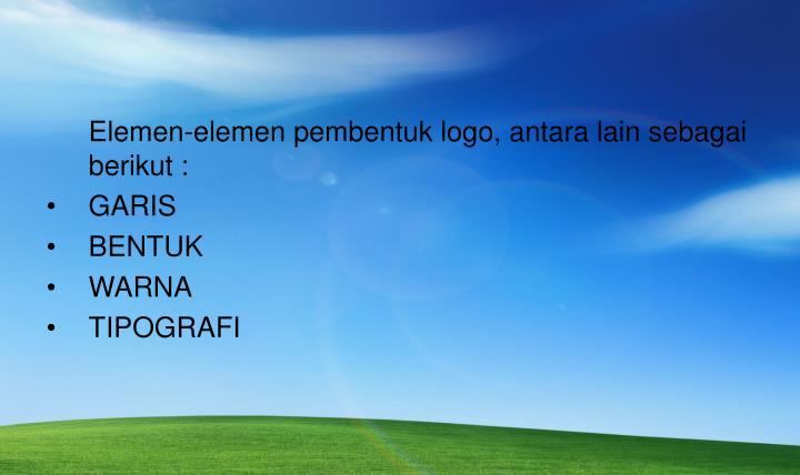 Elemen-elemen pembentuk logo, antara lain sebagai berikut :