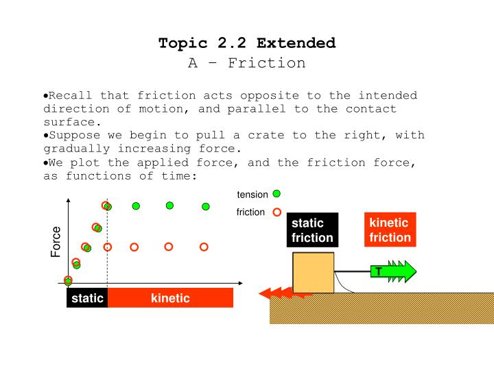 Topic 2 2 extended a friction
