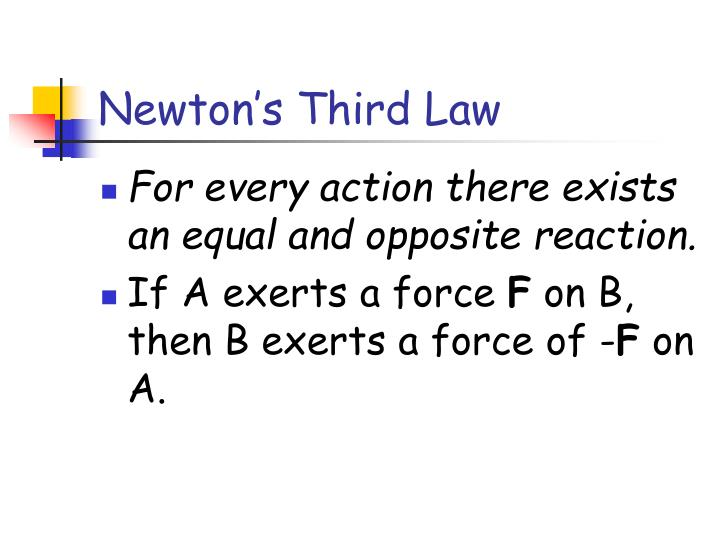 Newton's Third Law