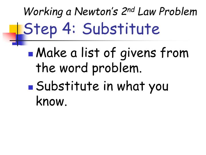 Working a Newton's 2