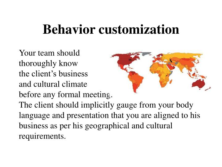 Behavior customization