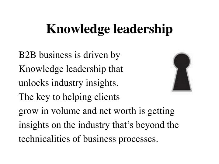 Knowledge leadership