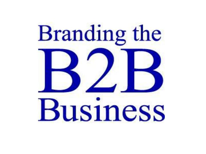 Branding the b2b business